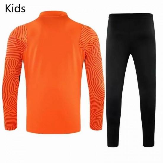 Roma Presentation Soccer Tracksuit Orange Kids 2020 2021