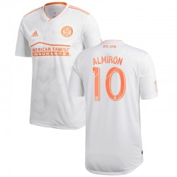Men's Atlanta United FC Miguel Almiron adidas White 2018 King Peach Authentic Player Jersey