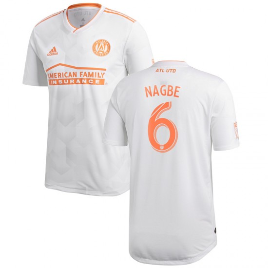 Men's Atlanta United FC Darlington Nagbe adidas White 2018 King Peach Authentic Player Jersey