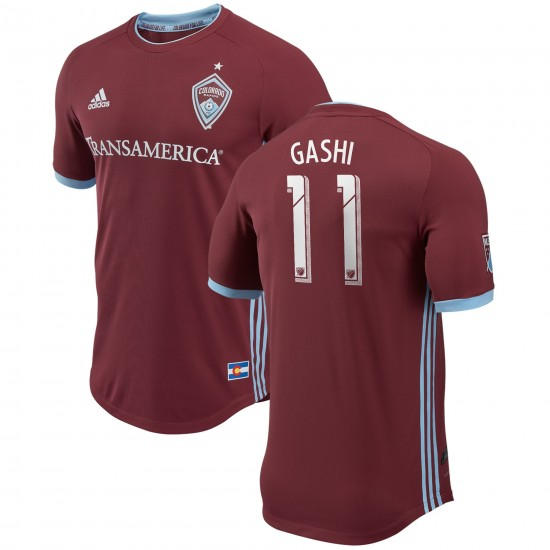 Men's Colorado Rapids Shkelzen Gashi adidas Burgundy 2018 Primary Authentic Player Jersey