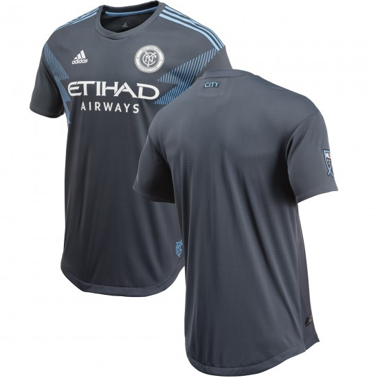 Men's New York City FC adidas Gray 2018 Secondary Authentic Jersey