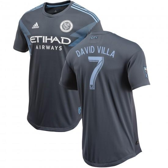 David Villa New York City FC adidas Gray 2018 Secondary Authentic Player Jersey