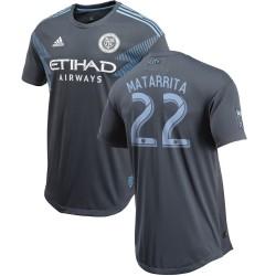 Men's New York City FC Ronald Matarrita adidas Gray 2018 Secondary Authentic Player Jersey