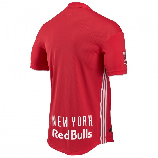 Men's New York Red Bulls adidas Red 2018 Secondary Authentic Jersey