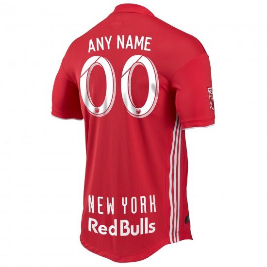 Men's New York Red Bulls adidas Red 2018 Secondary Authentic Custom Jersey