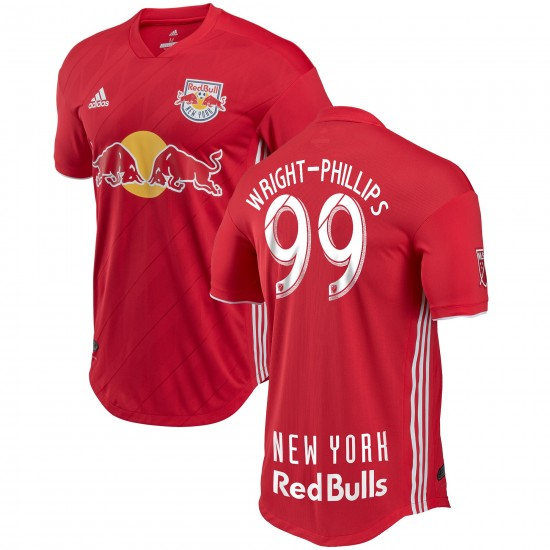 Men's New York Red Bulls Bradley Wright-Phillips adidas Red 2018 Secondary Authentic Player Jersey