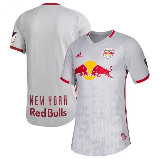 Men's New York Red Bulls adidas Gray 2019 Primary Authentic Jersey