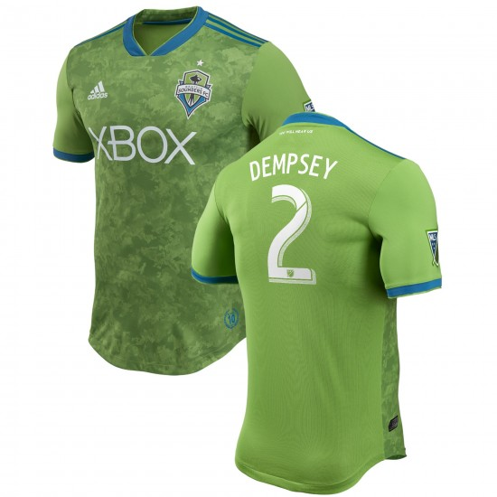 Men's Seattle Sounders FC Clint Dempsey adidas Green 2018 Primary Authentic Player Jersey