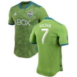 Men's Seattle Sounders FC Cristian Roldan adidas Green 2018 Primary Authentic Player Jersey