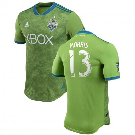Men's Seattle Sounders FC Jordan Morris adidas Green 2018 Primary Authentic Player Jersey