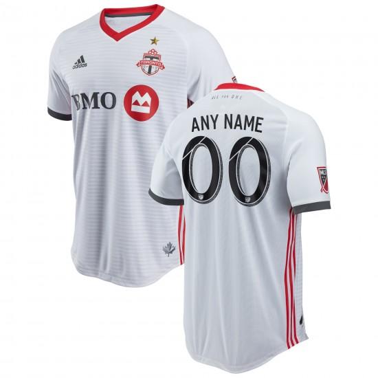 Men's Toronto FC adidas White 2018 Secondary Authentic Custom Jersey