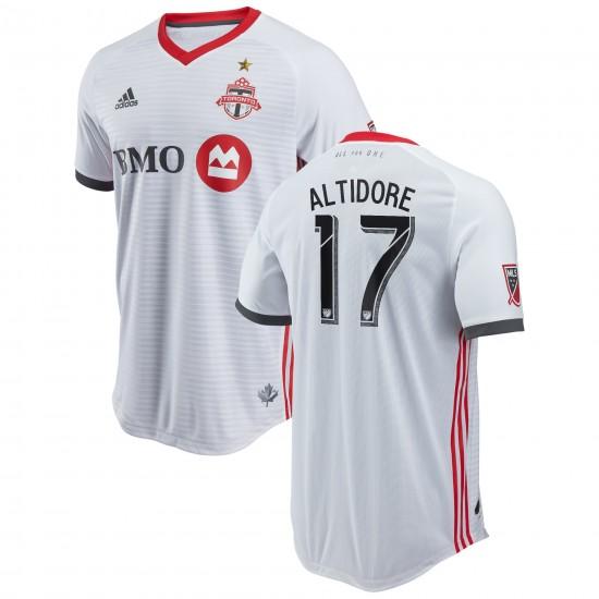 Men's Toronto FC Jozy Altidore adidas White 2018 Secondary Authentic Player Jersey