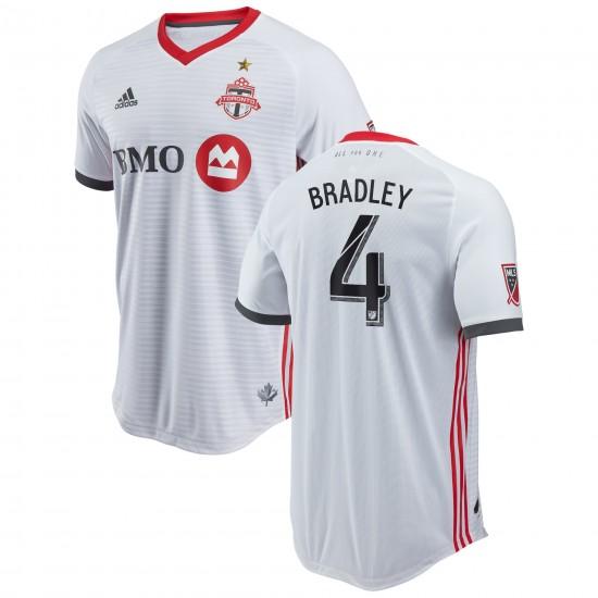 Men's Toronto FC Michael Bradley adidas White 2018 Secondary Authentic Player Jersey