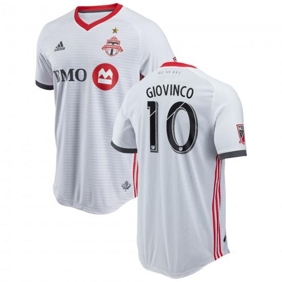 Men's Toronto FC Sebastian Giovinco adidas White 2018 Secondary Authentic Player Jersey