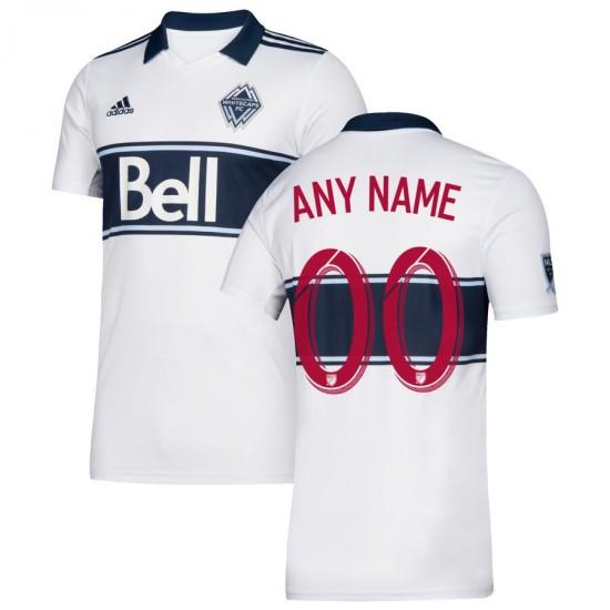 Men's Vancouver Whitecaps FC adidas White 2019 Hoop Custom Jersey