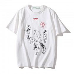 2020 OFF-WHITE Loose T-Shirt White