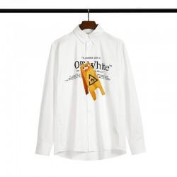 2020 SS OFF-WHITE Letter Men's Shirt White