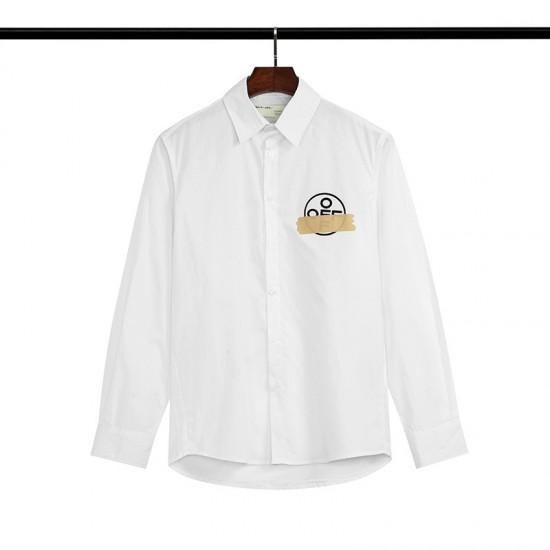 2020 SS OFF-WHITE Yellow Tape Arrow Men's Shirt