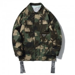 2019 SS OFF-WHITE Men's Tooling Jacket Camo