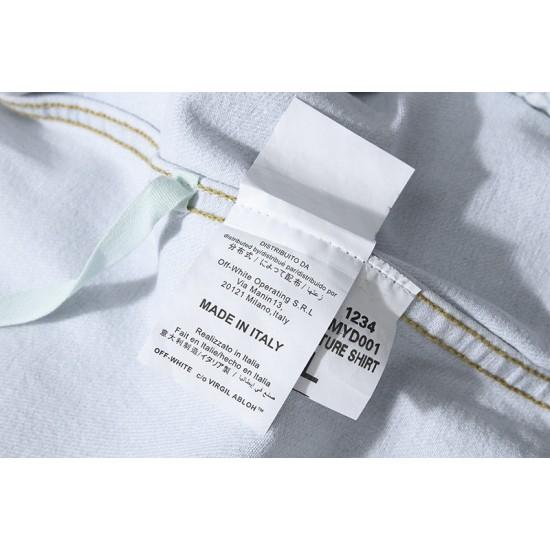 2020SS Autumn OFF-WHITE Arrow Denim Jacket Men