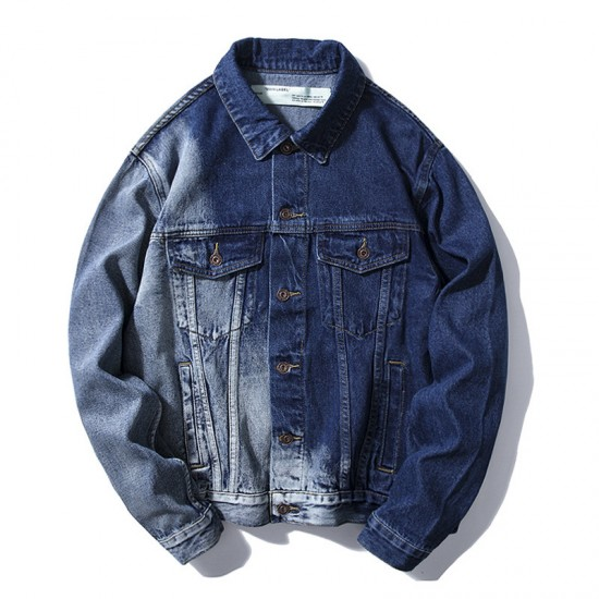2020 Teens OFF-WHITE Denm Jacket Blue
