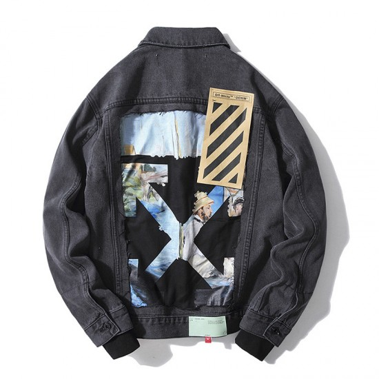 2020 SS OFF-WHITE Men's Painting Cowboy Jacket