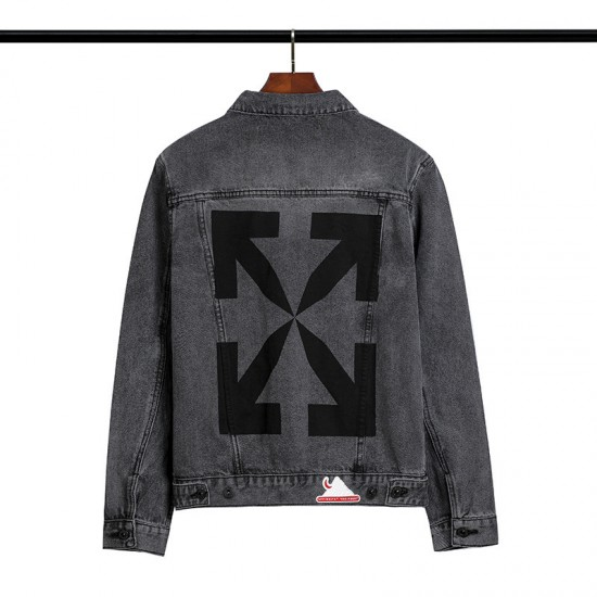 2020 Autumn OFF-WHITE Arrow Cowboy Jacket Grey
