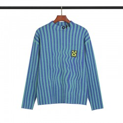 2019 SS OFF-WHITE Blue Stripes Men's Sweater