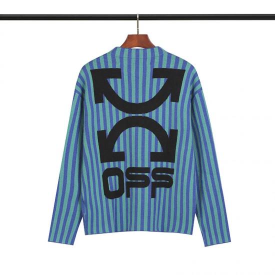 2019 SS OFF-WHITE Blue Stripes Men's Sweater
