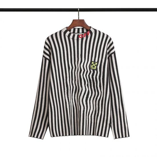 2019 SS OFF-WHITE Black & White Stripes Men's Sweater