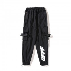 2020 Summer OFF-WHITE Men's Casual Pants Blue/Black