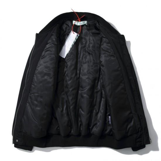 2020 Autumn Winter OFF-WHITE Air Force Men Jacket Black
