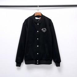 2020 Autumn OFF-WHITE Embroidery Arrow Jacket Black