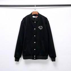 2020 Autumn OFF-WHITE Embroidery Arrow Jacket Black