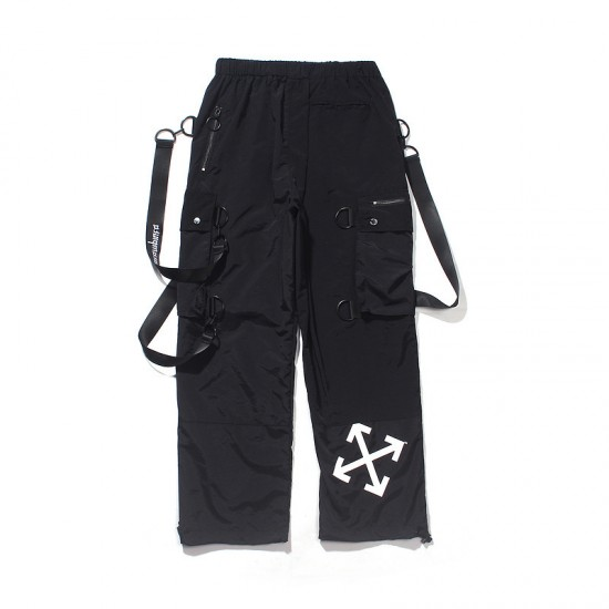 2020 Spring Autumn OFF-WHITE Overalls Pants Black