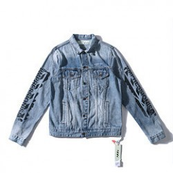 2019 Autumn OFF-WHITE 99 Paint Denm Jacket Blue