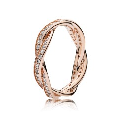 Pandora Twist of Fate Ring, PANDORA Rose™ & Clear CZ