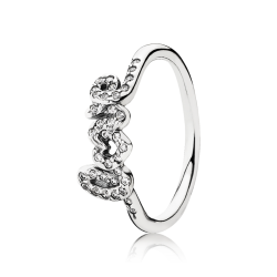 Pandora Signature Of Love Ring, Clear CZ