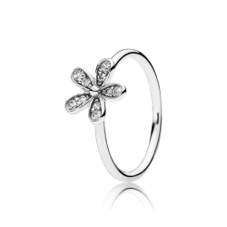 Pandora Dazzling Daisy Stackable Ring, Clear CZ