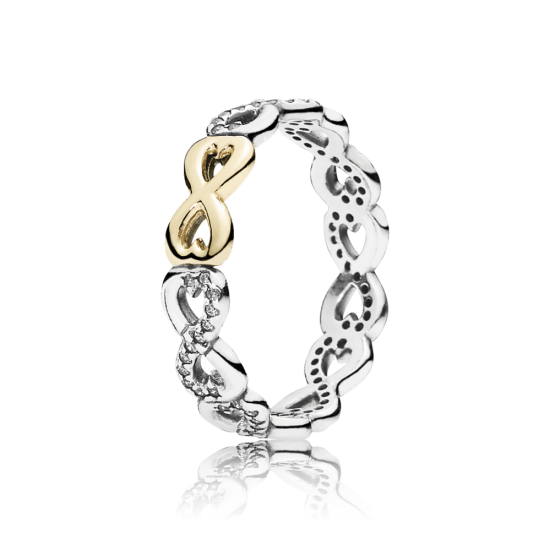 Pandora Infinite Love Stackable Ring, Clear CZ