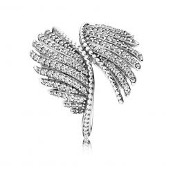 Pandora Majestic Feathers, Clear CZ