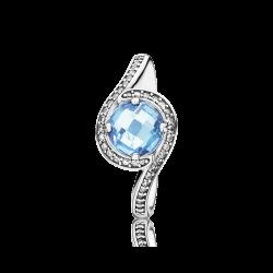 Pandora Radiant Embellishment, Sky/Blue Crystal & Clear CZ