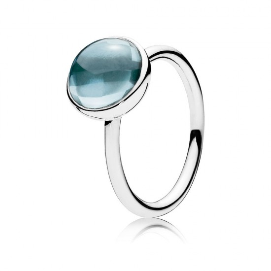 Pandora Poetic Droplet, Aqua Blue Crystal