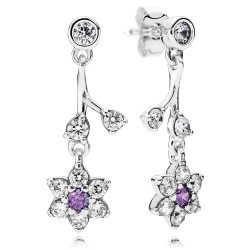 Pandora Forget Me Not, Purple & Clear CZ