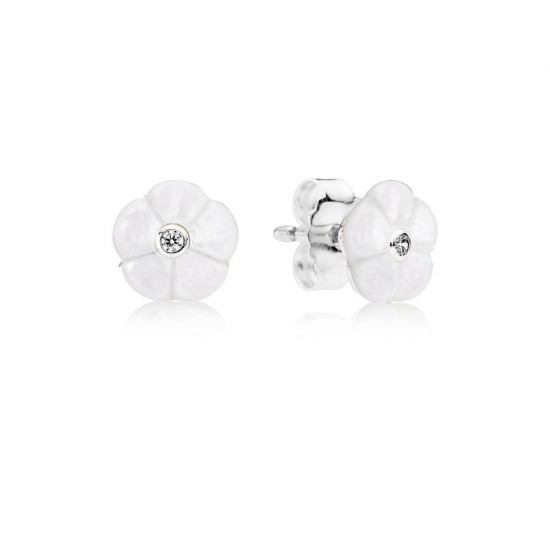 Pandora Luminous Florals, Mother/Of/Pearl & Clear CZ