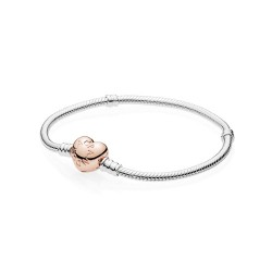 Pandora Sterling Silver w/ PANDORA Rose™ Heart Clasp