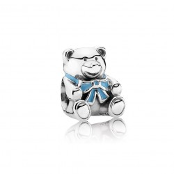 "Pandora ""It's A Boy"" Teddy Bear, Blue Enamel"