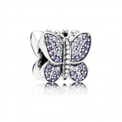 Pandora Sparkling Butterfly, Purple CZ
