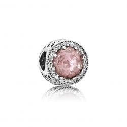 Pandora Radiant Hearts, Blush Pink Crystal & Clear CZ
