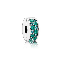 Pandora Mosaic Shining Elegance, Multi/Colored Crystals & Teal CZ